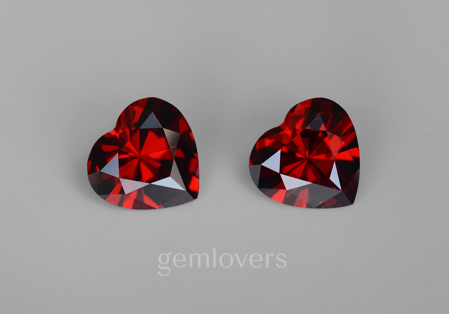 Pair of red pomegranates