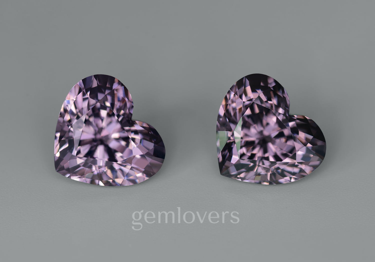 Pair of heart cut spinels