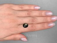Black sapphire with asterism size
