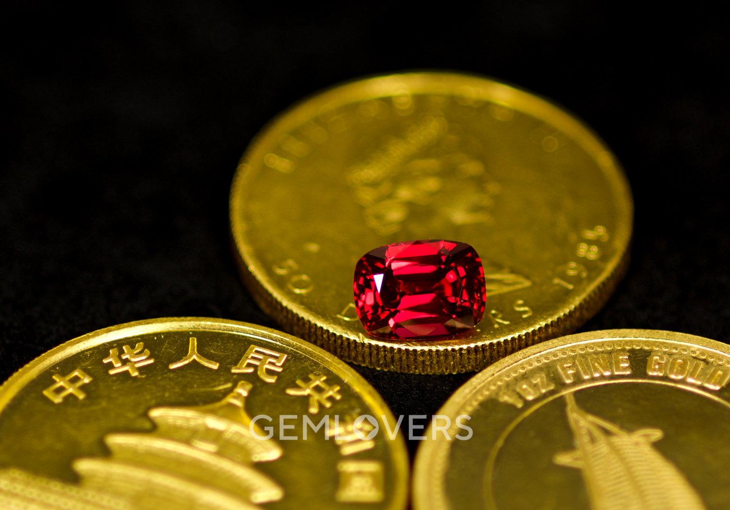Burmese red spinel cushion