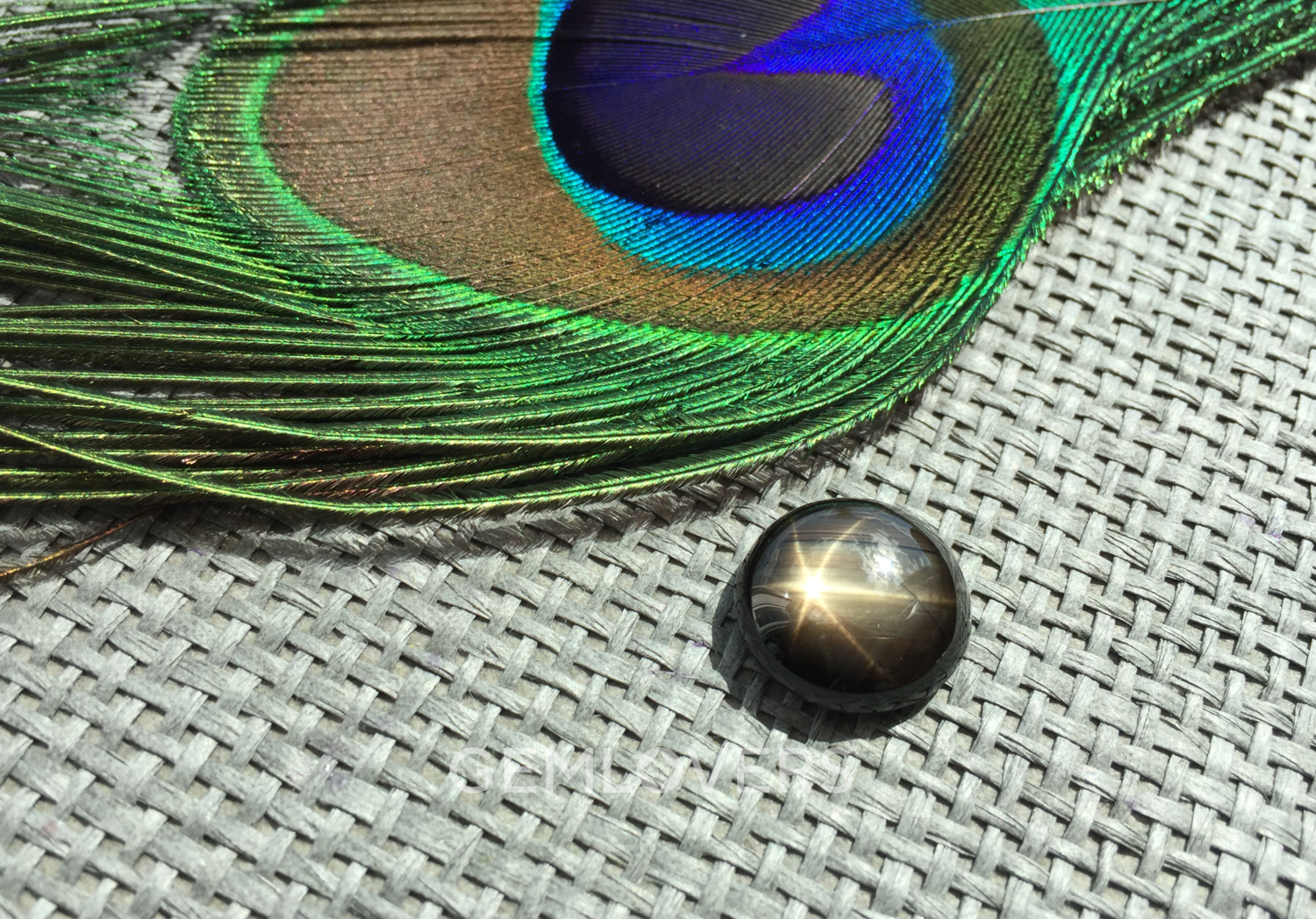 Sapphire with asterism