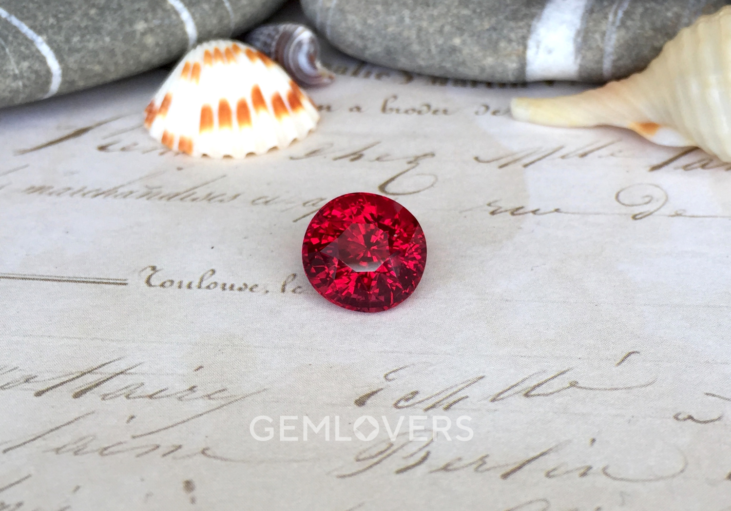 Red noble spinel Tanzania