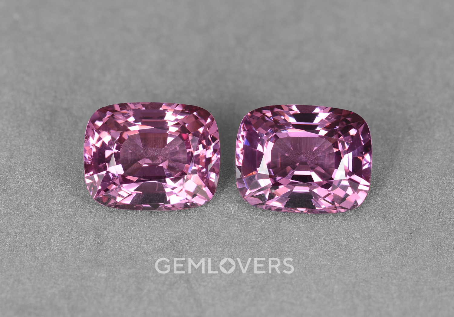 A pair of purple pink spinels