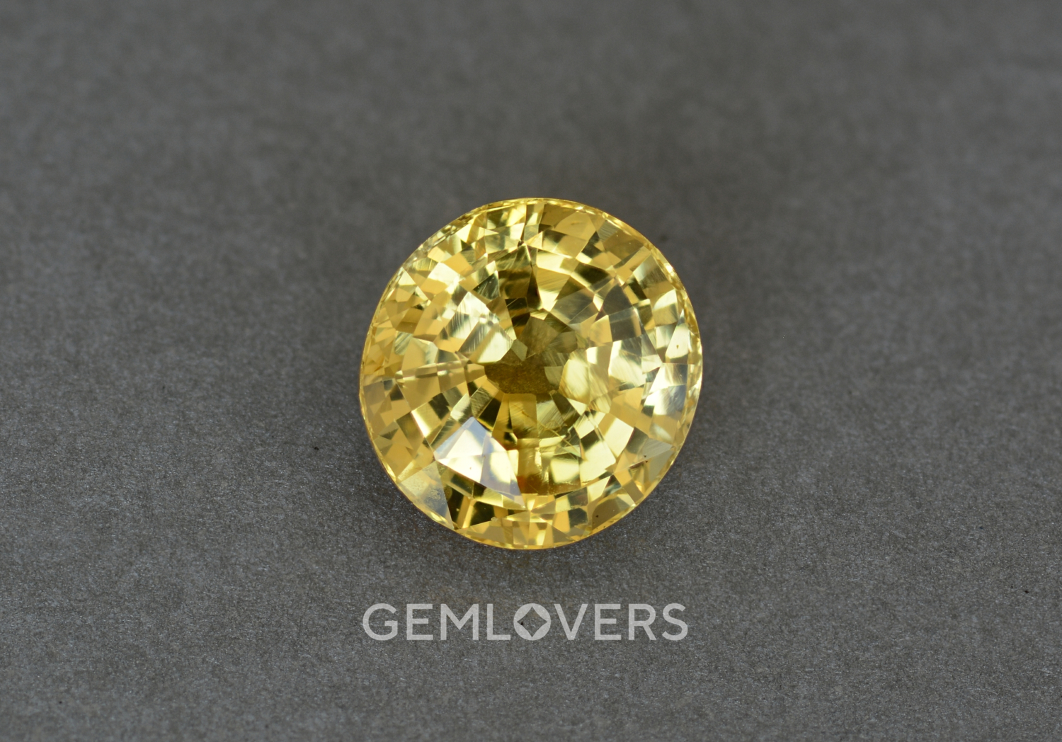 Unheated natural yellow sapphire oval