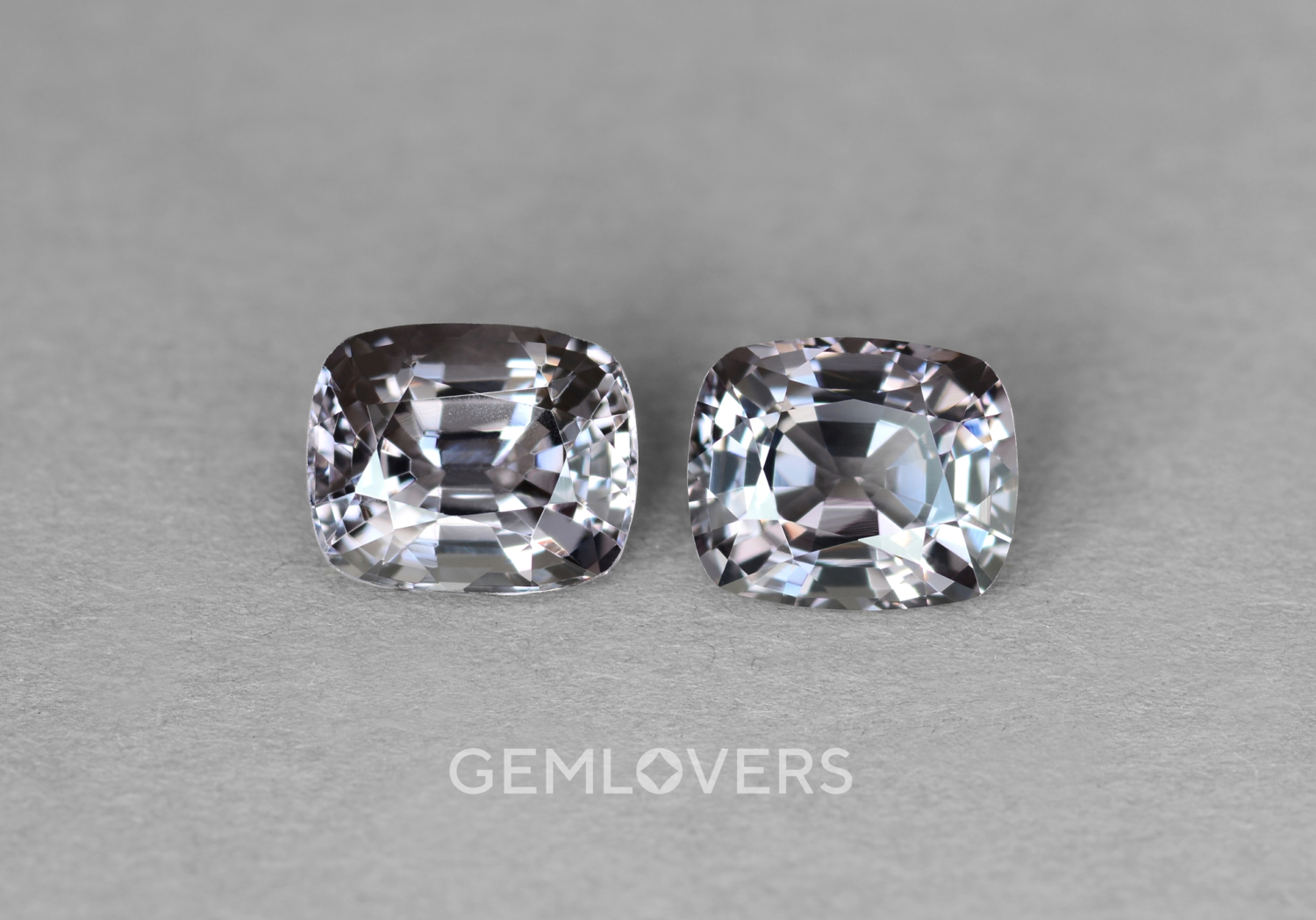A pair of gray spinels from Burma