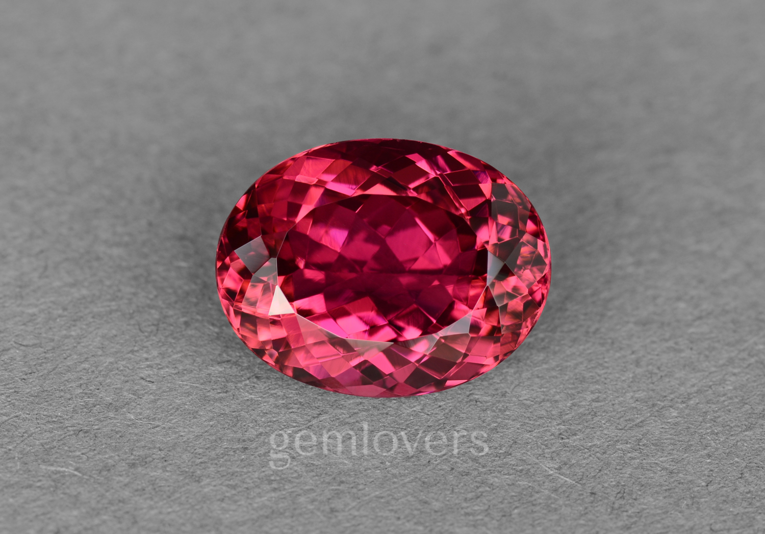 Oval rubellite from Brazil