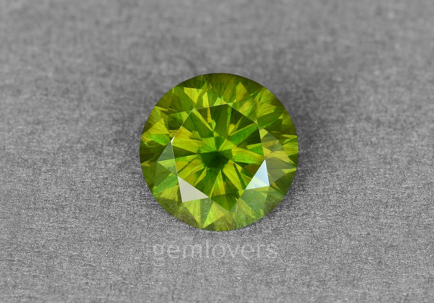 Demantoid with horsetail included