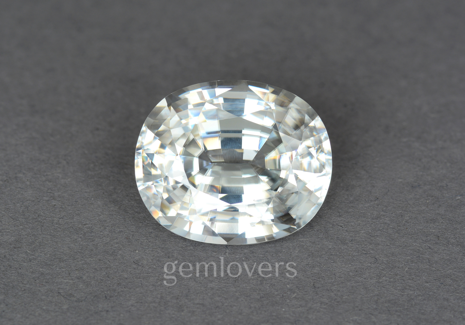 Large colorless natural zircon stone