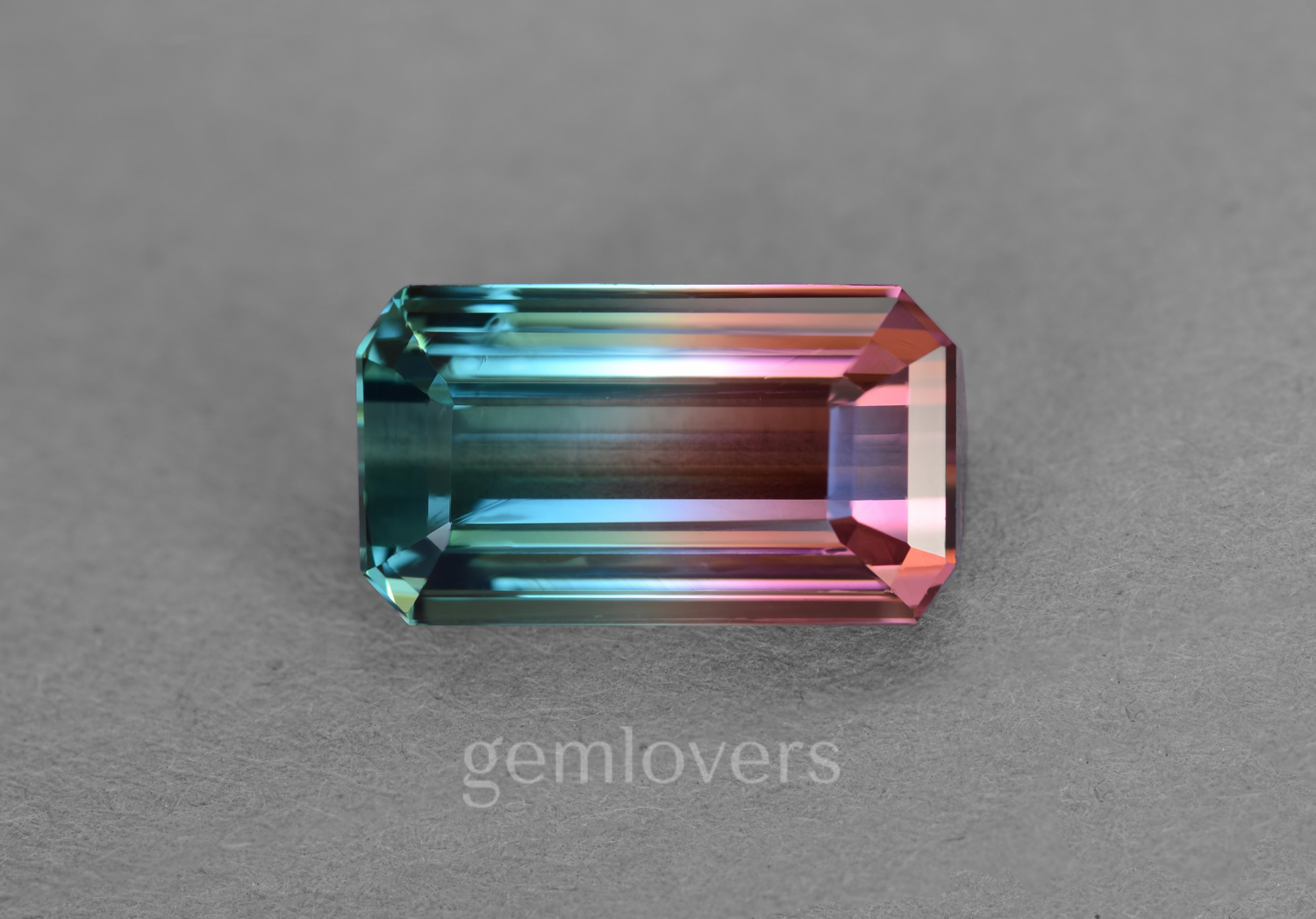 Natural tourmaline bicolor from Congo