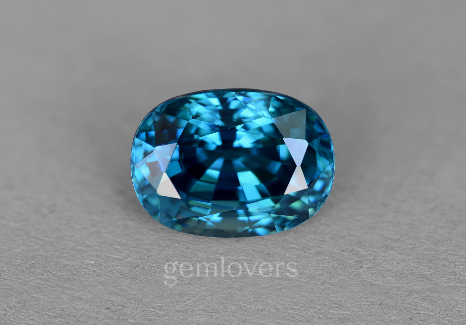 Natural blue zircon from Cambodia