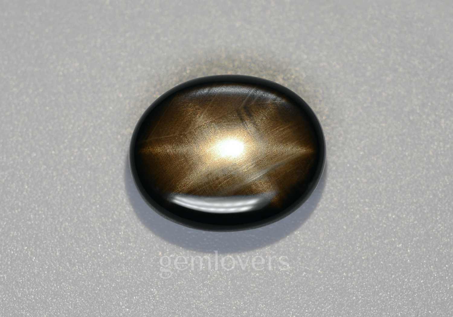 Black sapphire with a star