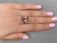 Ring with morganite from Brazil