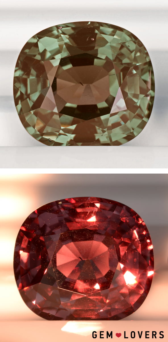 faceted alexandrite with attractive color