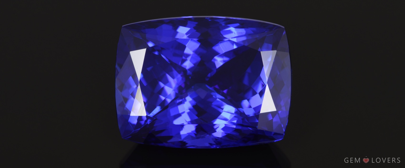 natural tanzanite cushion from Gem Lovers collection