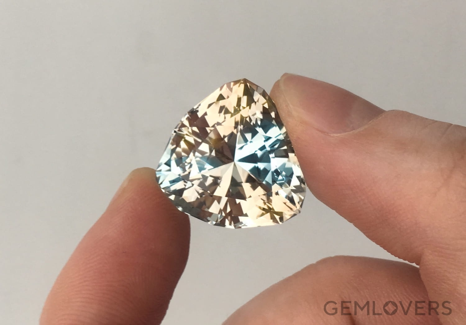 two-color topaz from Volyn', Ukraine