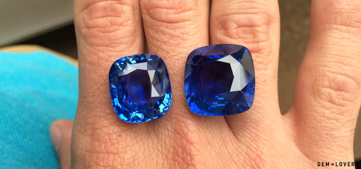 very rare high quality untreated blue sapphires from Sri Lanka