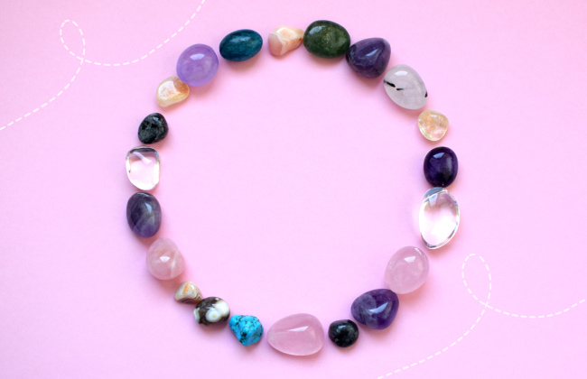 Selection of gemstones by color