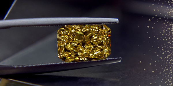 Unsurpassed jewelry with a special yellow gemstone